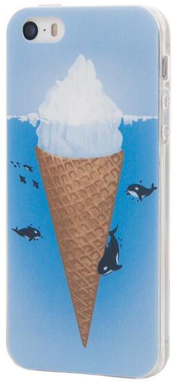 EPICO pružný plastový kryt pro iPhone 5/5S/SE ICEBERG