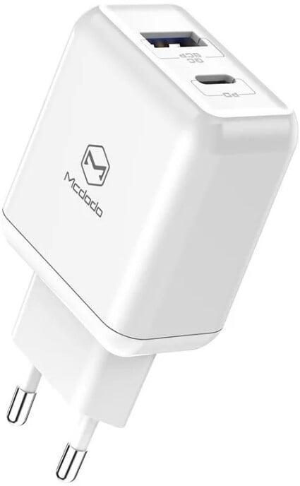 Mcdodo síťová nabíječka Smart Series, QC 3.0, PD, 18W, bílá