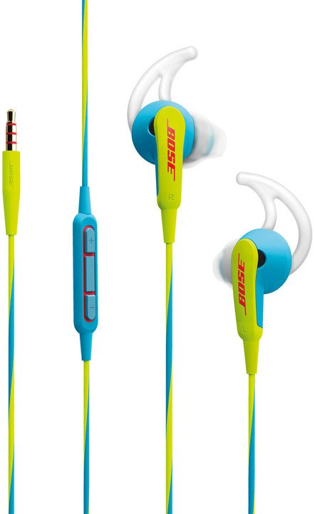 Bose SoundSport, Apple, neonově modrá