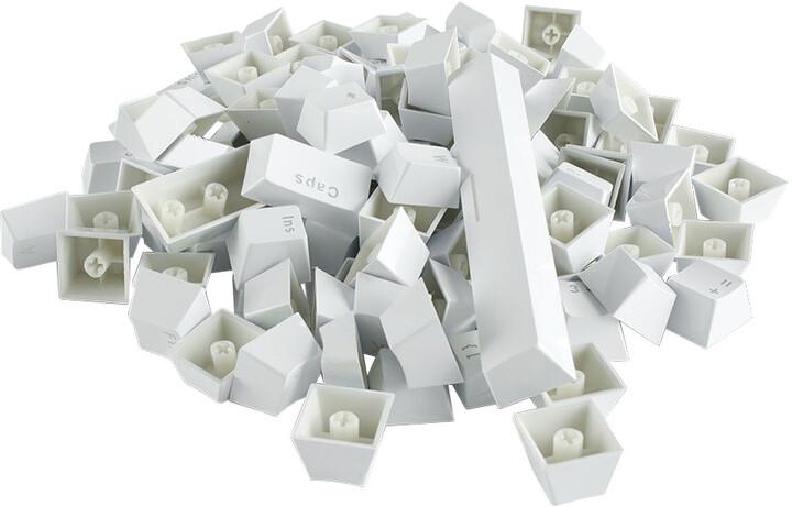 Glorious vyměnitelné klávesy Doubleshot ABS, 104 kláves, bílá, US