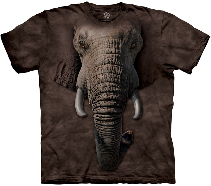 Tričko The Mountain Elephant Face, černá (US M / EU L)