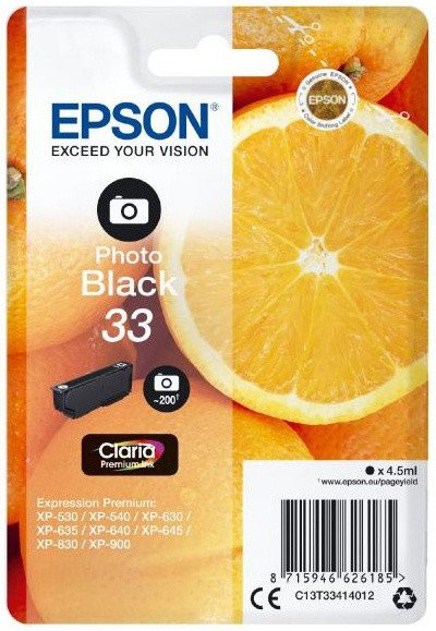 Epson C13T33414012, 33 photo black