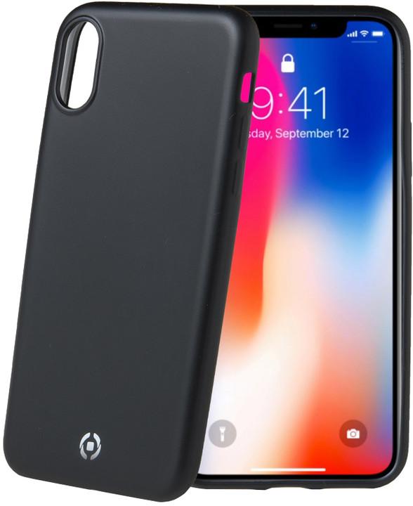 CELLY Sotmatt TPU pouzdro pro Apple iPhone X, matné provedení, černé