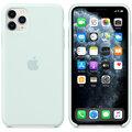 Apple silikonový kryt na iPhone 11 Pro Max, bledě zelená