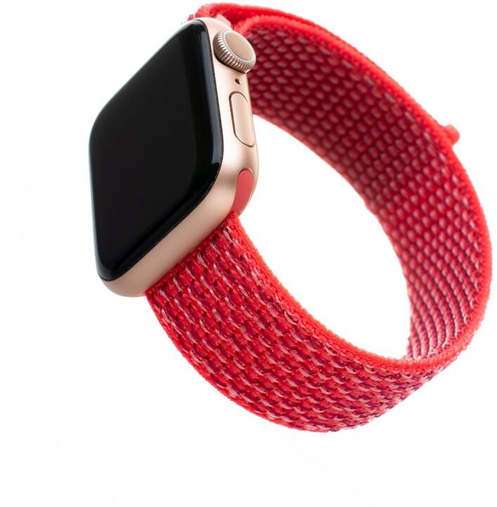 FIXED nylonový řemínek pro Apple Watch, 38/40mm, tmavě růžová