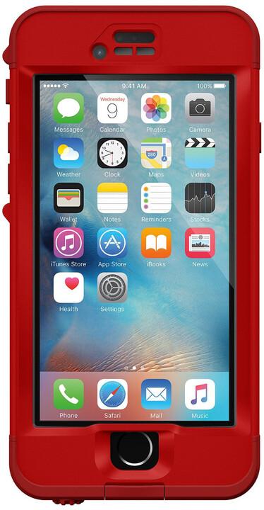 LifeProof Nüüd poudro pro iPhone 6s, odolné, červená