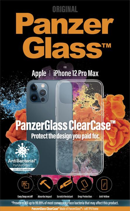 "PanzerGlass ochranný kryt ClearCase pro Apple iPhone 12 Pro Max 6.7"", antibakteriální, čirá"