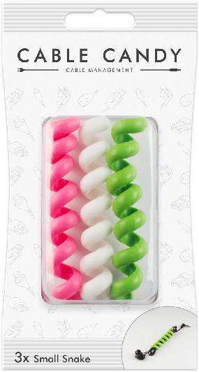 Cable Candy kabelový organizér Small Snake, 3 ks, různé barvy