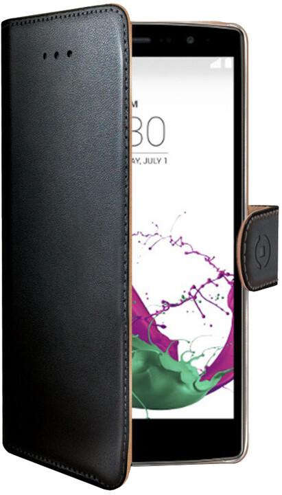 CELLY Wally pouzdro pro LG G4S, PU kůže, černá