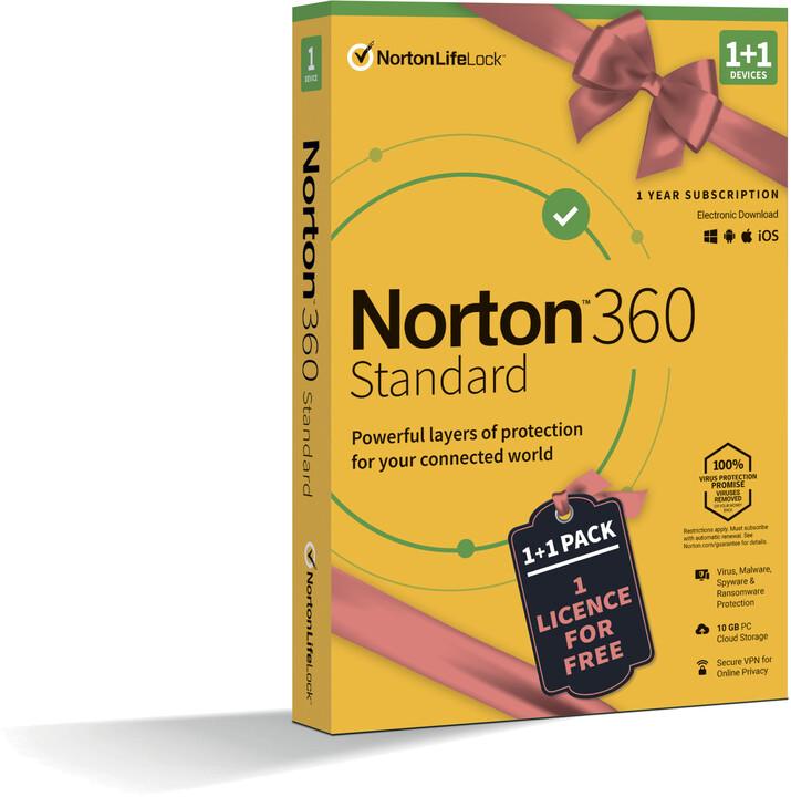 Norton 360 Standard 10GB + VPN 1+1 uživatel pro 1 zařízení na 1 rok