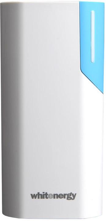 Whitenergy Power Bank 4000mAh 1A Li-Ion, bílá/modrá