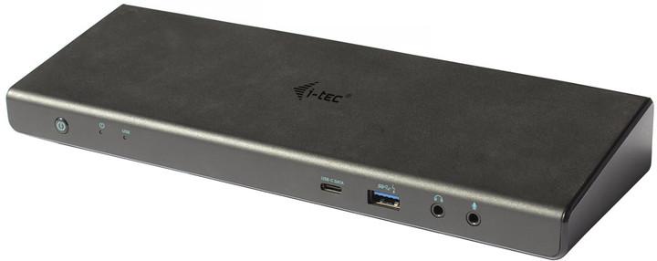 i-tec USB 3.0 / USB-C / Thunderbolt 3 Dual Display Docking Station + Power Adapter 100W