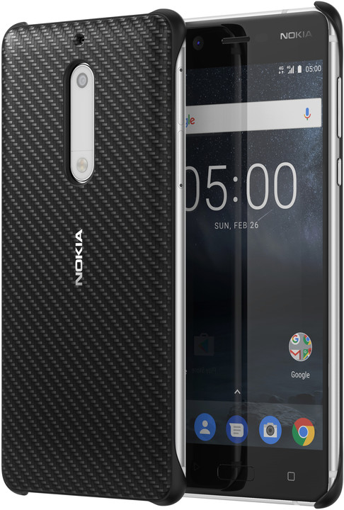 Nokia Carbon Fibre Design Case CC-803 for Nokia 5, černá