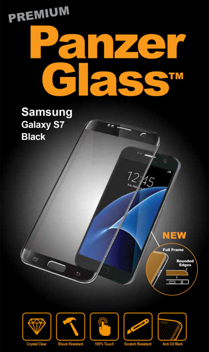 PanzerGlass ochranné sklo na displej pro Samsung S7 Premium, černá