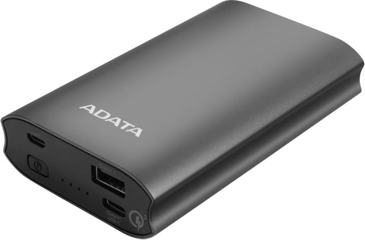 ADATA A10050QC Powerbank 10050mAh, titanová