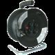 Prodlužovací kabel 230V 25m - 4x zásuvka, černý, na bubnu  + Voucher až na 3 měsíce HBO GO jako dárek (max 1 ks na objednávku)
