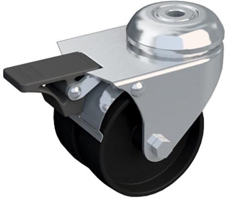 4X zátěžové kolečka s brzdou pro 4IT nebo 4S, nosnost 100kg