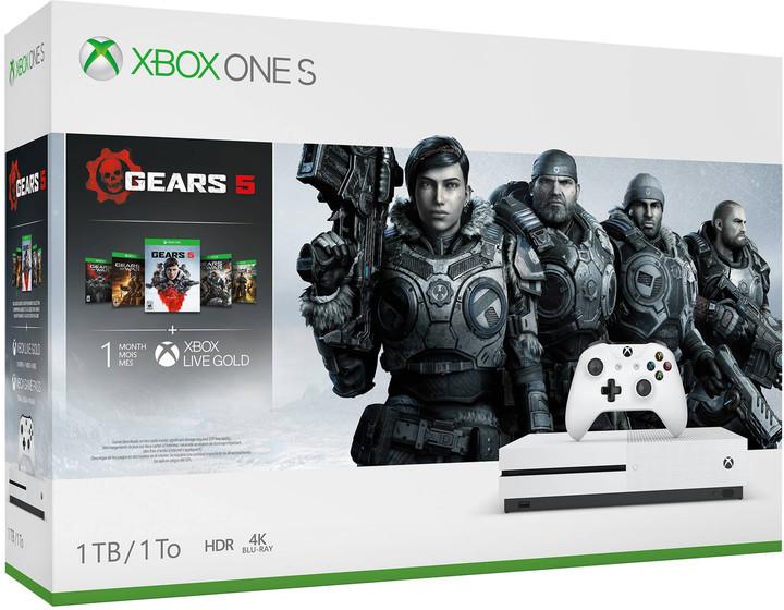 XBOX ONE S, 1TB, bílá + Gears 5 Standard Edition