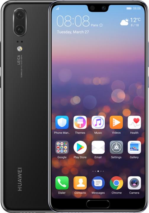 Huawei P20, Dual Sim, Black