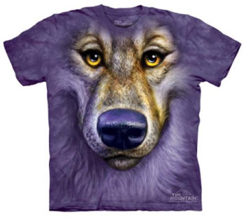 Tričko The Mountain Friendly Wolf Face, fialová (US L / EU XL)