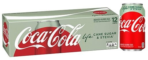Coca Cola Life, limonáda, 355 ml, 12ks