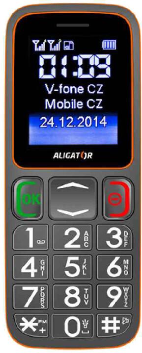 Aligator A320 Senior, šedá/oranžová