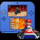 Nintendo 2DS, černá/modrá + Mario Kart 7