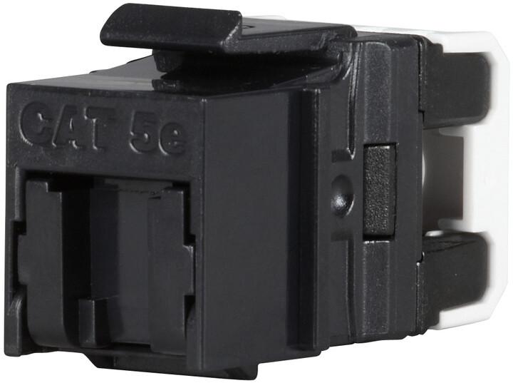Solarix rychlozařezávací keystone CAT5E UTP RJ45 černý pro kleště SXKJ-NA-BU