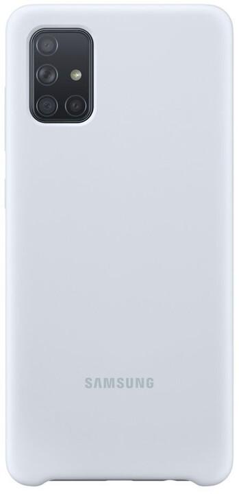 Samsung silikonový zadný kryt pro Samsung Galaxy A71, stříbrná