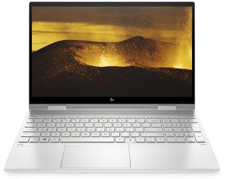 HP ENVY x360 15-ed1002nc, stříbrná