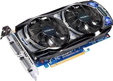 GIGABYTE GTX 460 OC (GV-N460OC2-1GI) 1GB, PCI-E