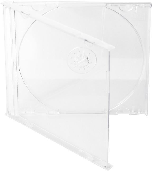 Cover It box:1 CD 10mm jewel box + tray čirý - karton 200ks