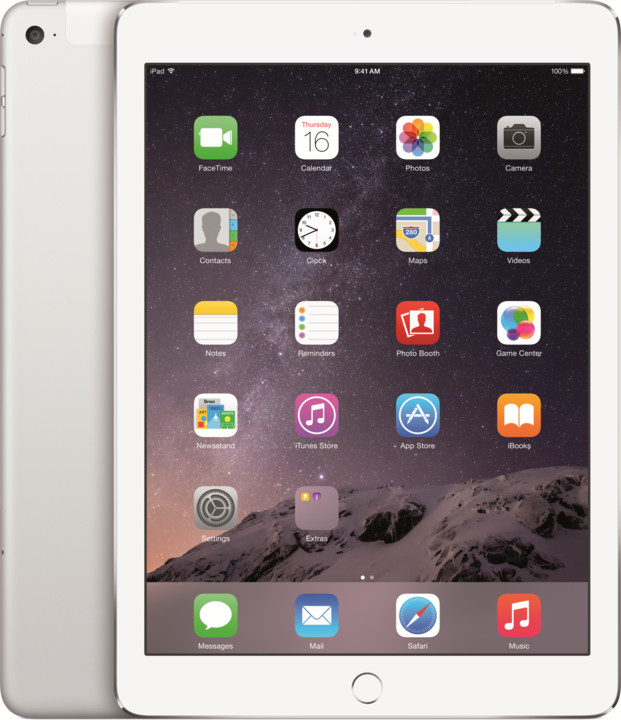 APPLE iPad Air 2, 128GB, Wi-Fi, 3G, stříbrná