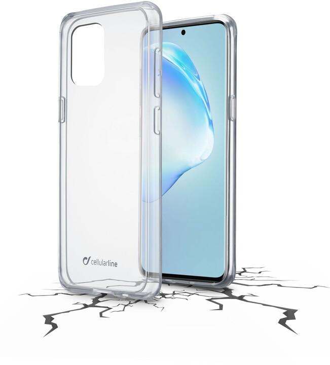 Cellularline zadní kryt s ochranným rámečkem CLEAR DUO pro Samsung Galaxy S20+, čirá