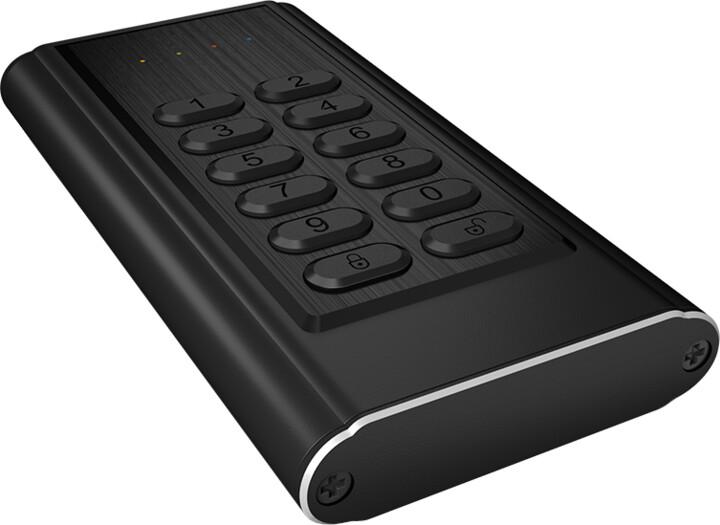 ICY BOX IB-189U3, keypad, černá