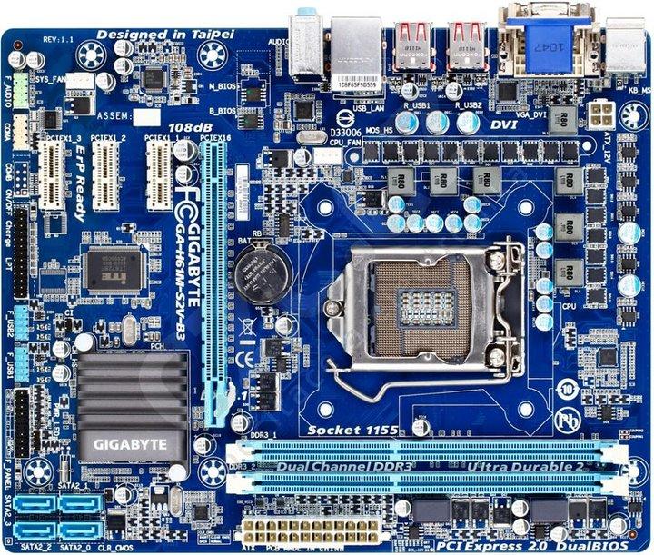 GIGABYTE GA-H61M-S2V-B3 - Intel H61