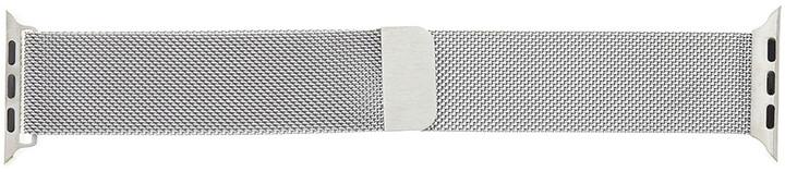 Tactical 344 kovový řemínek Loop pro Apple Watch 1/2/3/4/5/6/SE, magnetický, 42mm, stříbrná