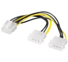 "PremiumCord redukce napájecí 2x5.25"" Molex - 8 pin pro PCI-E grafické karty - kn-13"