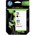 HP SD367AE, č. 21, č. 22, černá + barevná, Combo Pack – ušetřete až 20 % oproti standardní náplni
