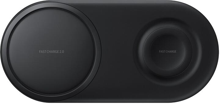 Samsung duální QI bezdrátová nabíječka pro mobil a Samsung hodinky, černá