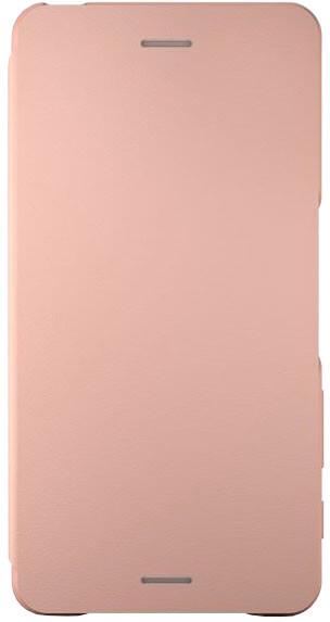 Sony SCR58 Style Cover Flip Xperia XP, růžová/zlatá
