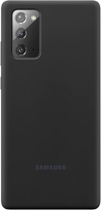 Samsung silikonový kryt Samsung Galaxy Note20, černá