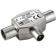 PremiumCord TV antenní slučovač-rozbočovač IEC 75 Ohm 1xM-2xF - ktcm-ff