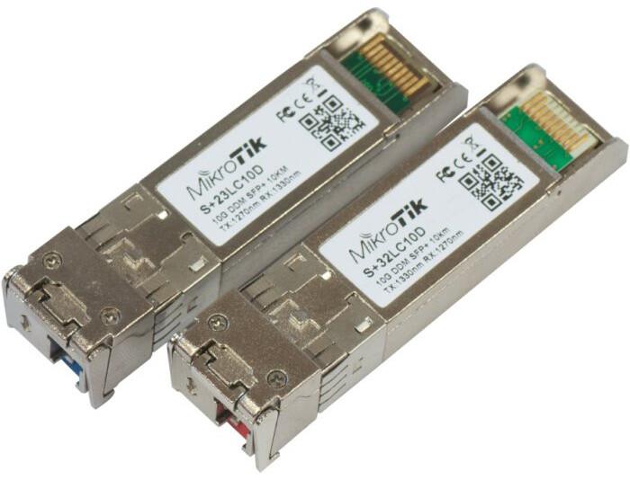 Mikrotik SFP+ optický modul, pár