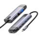 Mcdodo dokovací stanice 10v1, USB-C, 2xUSB, 2xUSB 3.0, HDMI 4K, VGA, PD, 100W, stříbrná