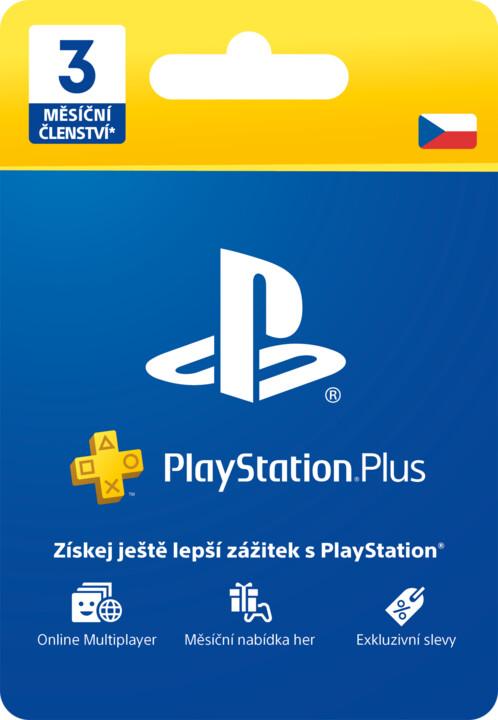 Playstation Plus Card 3-měsíční členství