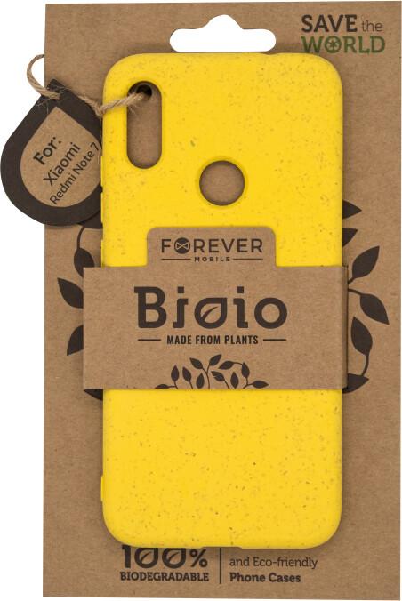 Forever zadní kryt Bioio pro Xiaomi Redmi Note 7, žlutá