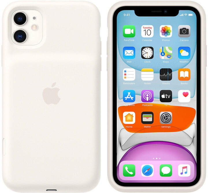 Apple iPhone 11 Smart Battery Case with Wireless Charging, white