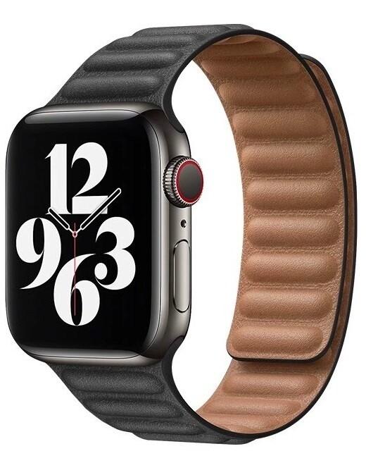 COTEetCI kožený řemínek pro Apple Watch, 42/44mm, černá