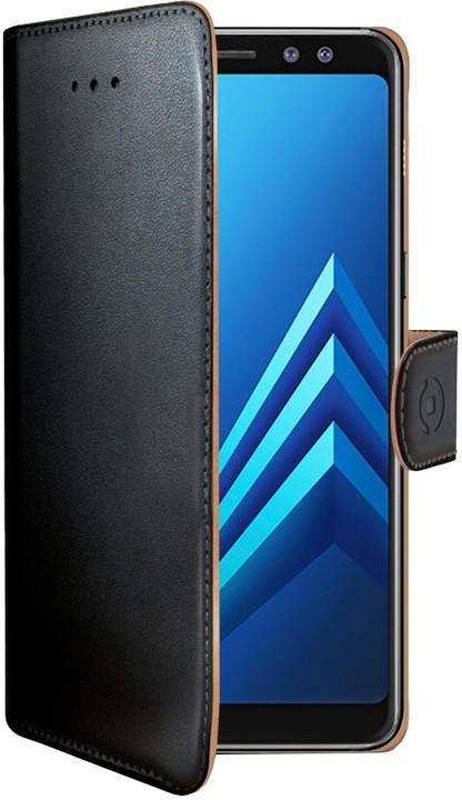 CELLY Wally pouzdro typu kniha pro Samsung Galaxy A8 (2018), PU kůže, černé